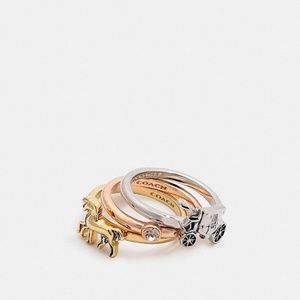 New with tags Coach Stackable ring set